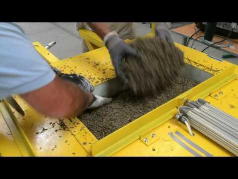 presse a briques en balle de riz essais avec les composants