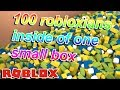 100 ROBLOXIANS INSIDE OF ONE BOX...WHAT CAN GO WRONG?
