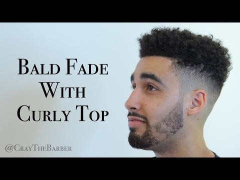 How To: Bald Fade W/ Curly Top U0026 Simple Beard Line Up