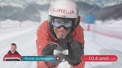 Spot TV con i nostri quattro eroi dello sci