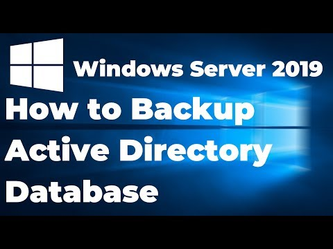 How To Backup Active Directory Database In Windows Server 2019