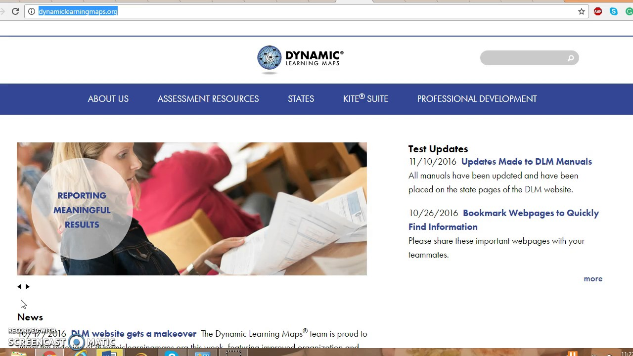 Dynamic Learning Maps Online Tutorial - YouTube on