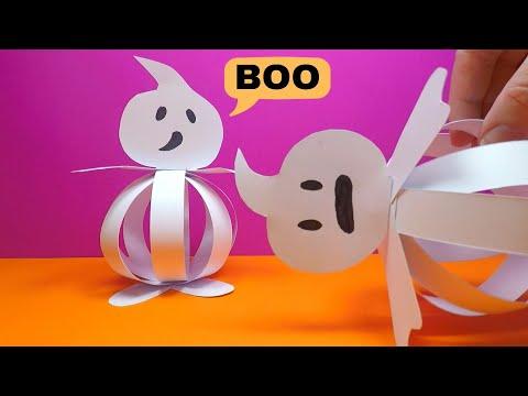 Easy Halloween Paper Ghost | Halloween Crafts