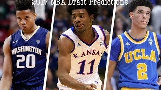 2017 NBA Draft Predictions