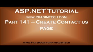 Contact us page using asp net and c#   Part 141