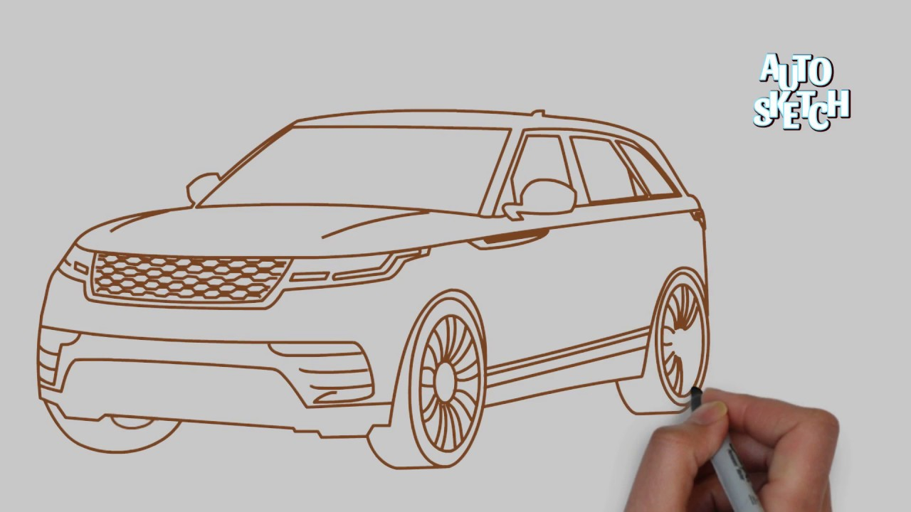 It is a picture of Epic Range Rover Drawing