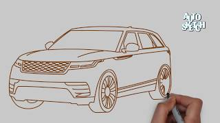 How to draw a Range Rover Velar(cars drawing)