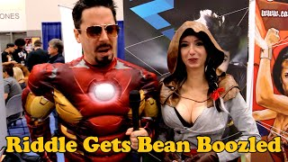 Riddle Gets Bean Boozled @ SDCC 2016 #ThatCosplayShow #BeanBoozled