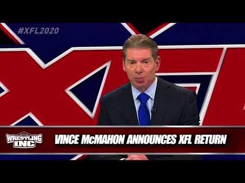 Vince McMahon Announces The Return of the XFL