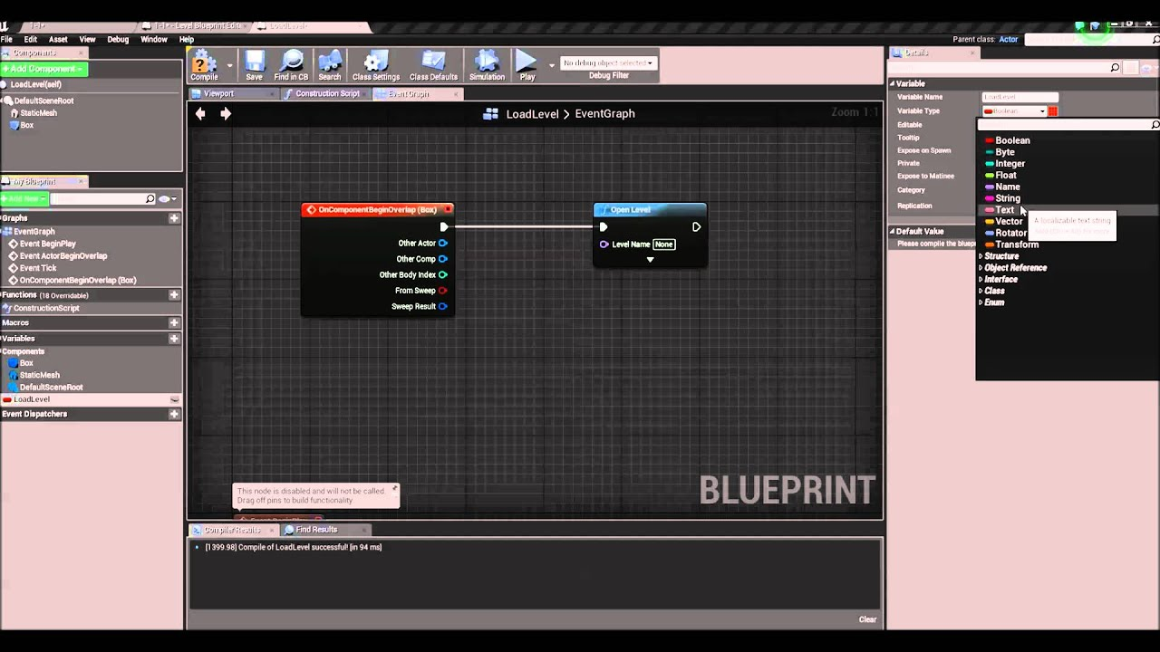 Unreal engine 4 load level blueprint actor youtube unreal engine 4 load level blueprint actor malvernweather Image collections