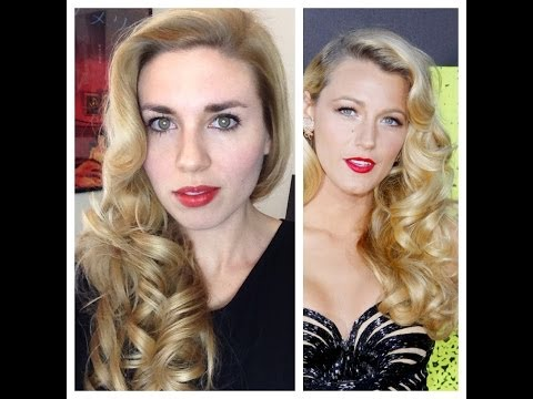 Blake Lively Retro Curls – Vintage Old Hollywood Glamour Hair Tutorial