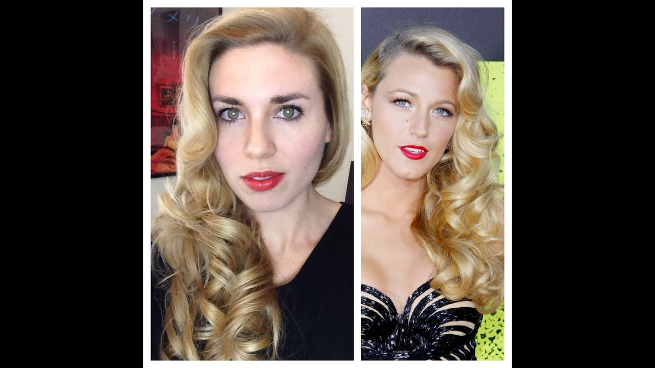 blake lively retro curls - vintage old hollywood glamour hair