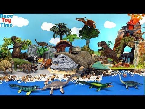 Dino Volcano Island - Learn Dinosaur Names For Kids