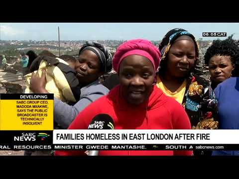 Families homeless in East London after fire