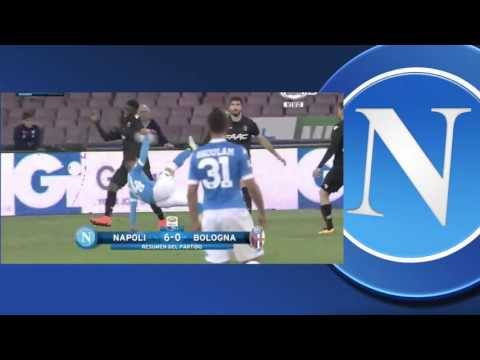 Dries Mertens Hat-Trick vs Bologna, Napoli 6 - 0 Bologna, Highlights, Serie A 2016