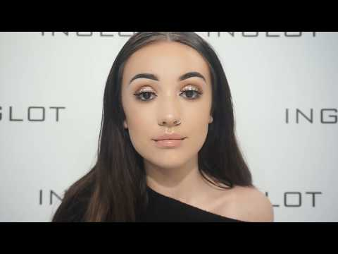 Rose Gold Eye and Flawless Skin using Inglot's Luxury Brush Collection