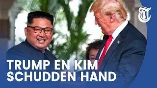 Historische ontmoeting Trump en Kim