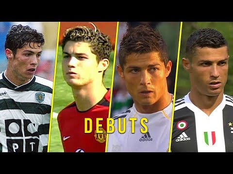 Cristiano Ronaldo Debuts for Sporting, Manchester United, Real Madrid, Juventus & Portugal