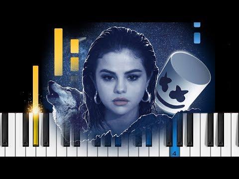 Selena Gomez, Marshmello - Wolves - Piano Tutorial / Piano Cover