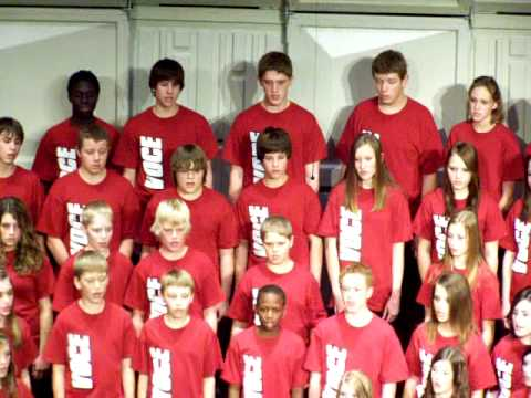 Franklin Middle School Voce Choir sings Merry, Merry Hearts