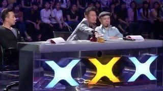 Vietnam's Got Talent 2016 - Nút vàng giám khảo Bằng Kiều và những tiết mục hài hước không đỡ nổi