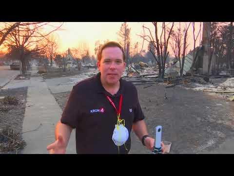 Santa Rosa fire Car Burned out & 360 video explainer