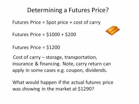 Working out a futures price