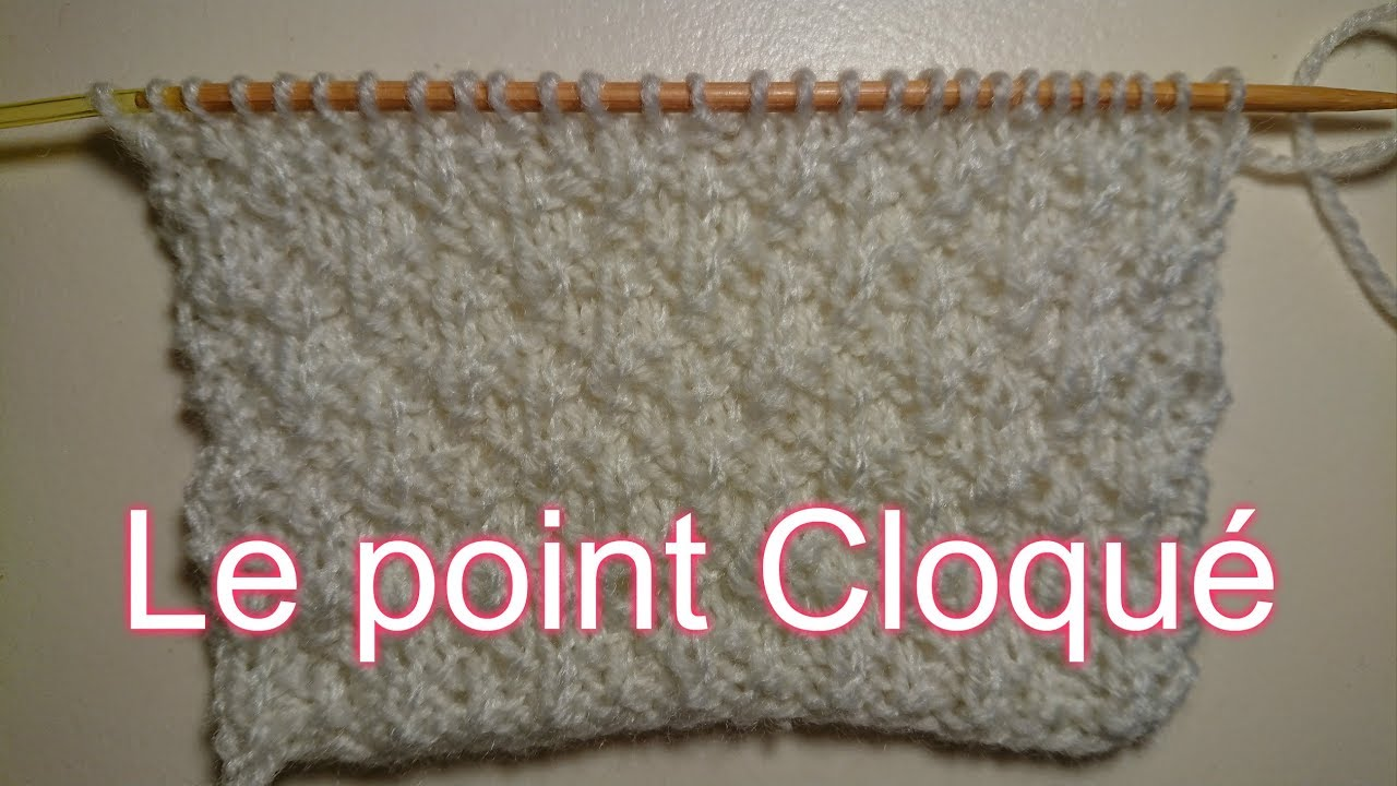 Point cloque tricot