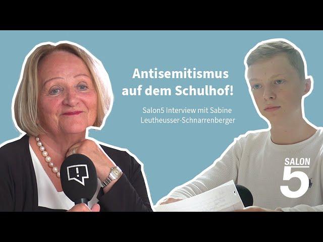 Gespräch über Antisemitismus mit Sabine Leutheusser-Schnarrenberger