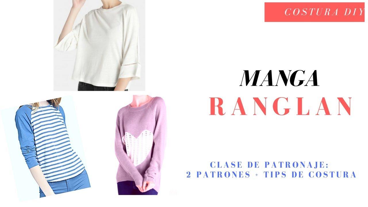 Manga Ranglan + tips de costura Costura Diy Clase de Patronaje - YouTube
