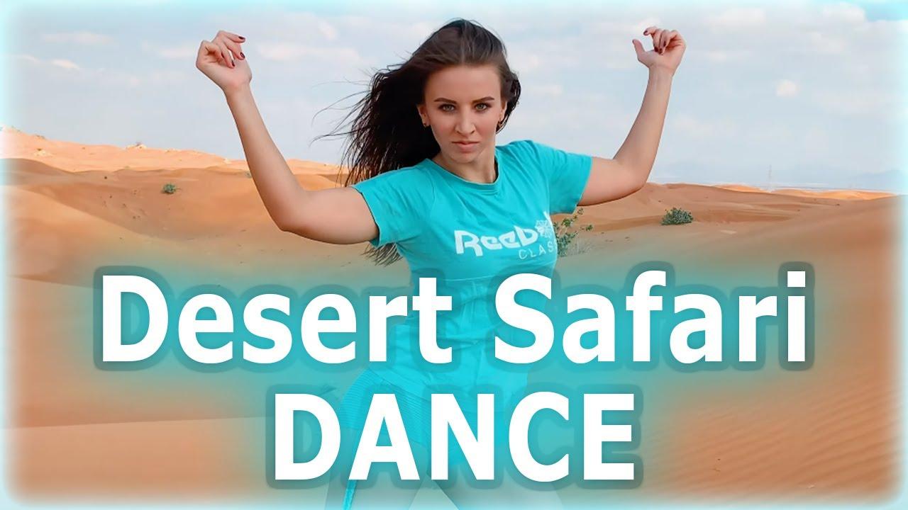 Russian Girl in Dubai. Safari Desert Dance.