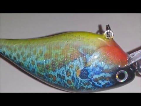 Custom Painted Lure 2 5 Square Bill Pumpkin Seed 3 Male Dark Blue