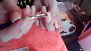 Как Нарастить Ногти.Наращивание Ногтей на Типсы.Nail extensions on tips.