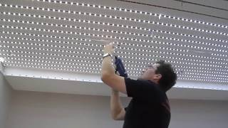 Светодиодное LED Освещение потолка.(Процесс установки потолка DESCOR с фотопечатью и светодиодный подсветкой., 2015-05-29T09:01:27.000Z)