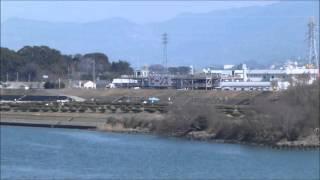 紀ノ川(紀の国大橋)の東の景色(2014 3 12)