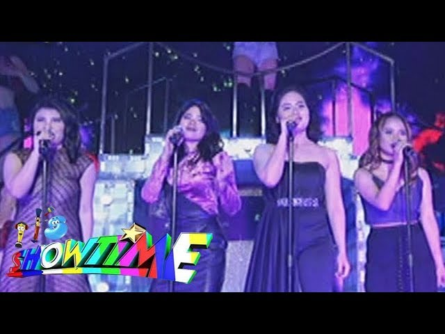 "It's Showtime: TNT divas Rachel, Maricel, Mary Gidget and Pauleen perform ""Disturbia"""