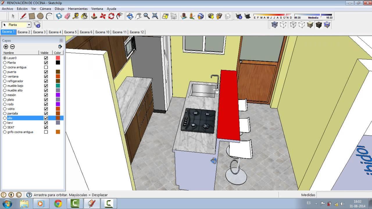 Como dise ar una casa en sketchup parte 1 dise o de for Como remodelar una casa
