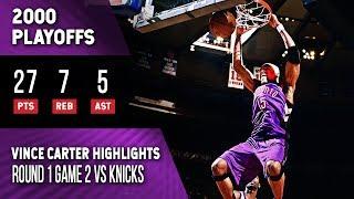 Vince Carter Highlights Playoffs Game 2 Raptors vs Knicks (04.26.2000) 27pts, 2-Handed Dunk!