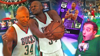nba 2k17 my team ray allen dunking on everyone this card seems cheesy