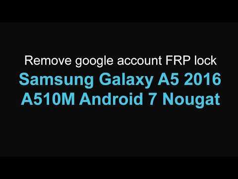 Unlocking - FRP Google/Samsung account removal - Combination/Cert