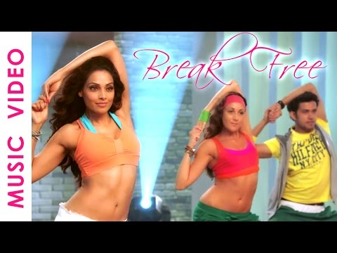 30 Mins Aerobic Dance Workout Music   Bipasha Basu Break free Full Routine