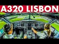 Piloting AER LINGUS A320 From Lisbon