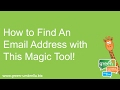 How To Find An Email Address With This Magic Tool!
