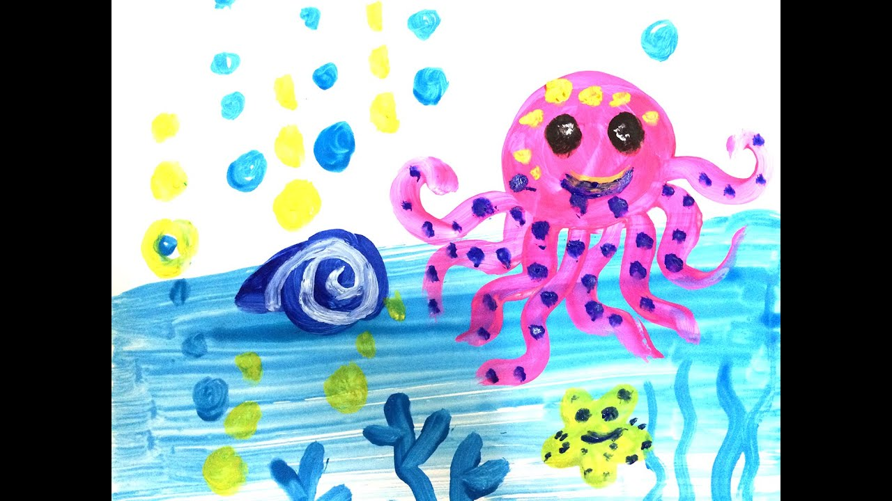 Painting animals for kids | How to draw a octopus easy for kids ...