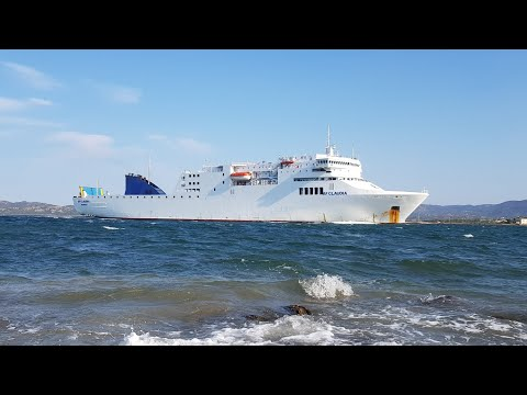"Arrival Of Ferry ""AfClaudia"" In Olbia 