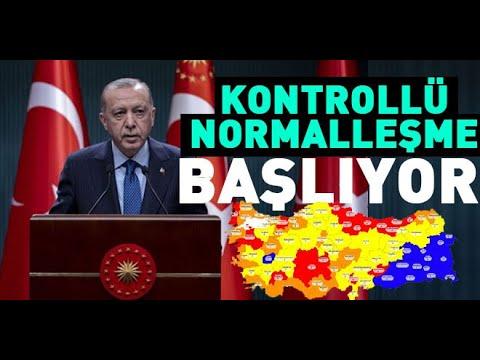 KONTROLLÜ NORMALLEŞME  BAŞLIYOR (Yüz yüze eğitim, Lokantaların açılması, Hafta sonu yasakları)