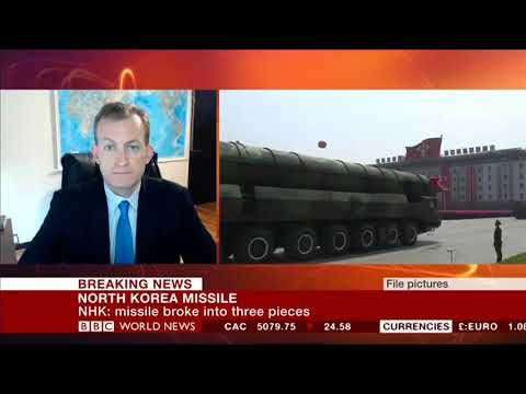 Robert Kelly, BBC, August 29, 2017, North Korean Launch over Japan