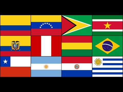 SOUTH AMERICA - Administrative divisions