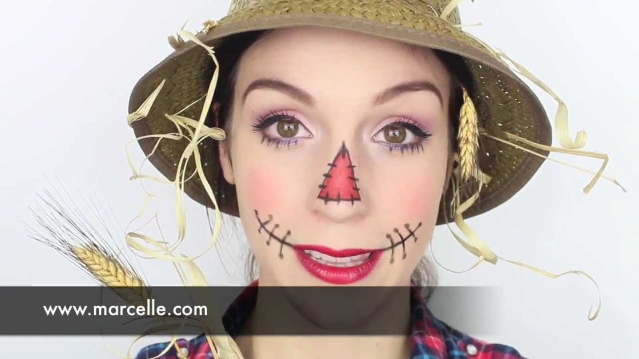 Maquillage D 39 Halloween Par Cynthia Dulude Pouvantail Youtube