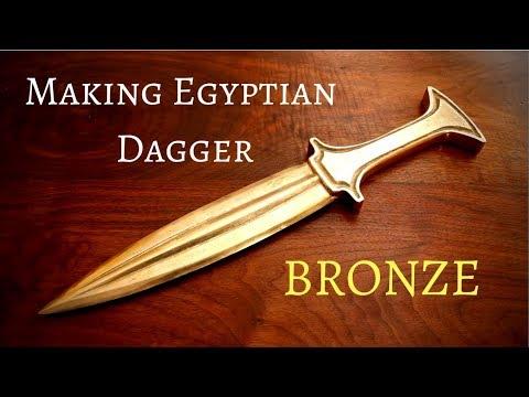 Casting an Egyptian bronze age dagger